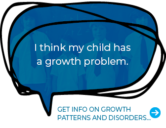 I think my child has a growth problem. Get info on growth patterns and disorders…